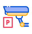 parking camcorder icon outline vector image vector image
