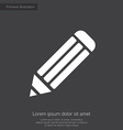 pencil premium icon white on dark background vector image vector image