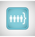 person in the square button isolated icon design vector image vector image