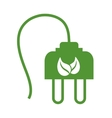 Plug icon Save energy design graphic vector image vector image