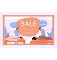 salon sale banner vector image vector image