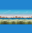 seamless ocean landscape for game ui vector image vector image