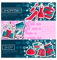 set horizontal banners about shopping vector image