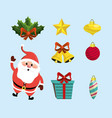 set merry christmas decoration design vector image