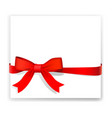 shiny red ribbon on white background vector image vector image