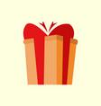 simple cartoon giftbox vector image
