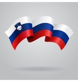 Slovenian waving Flag vector image vector image