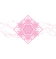 snowflakes abstract pink backdrop vector image vector image