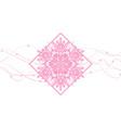 snowflakes abstract pink backdrop vector image vector image