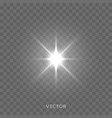star light shine starlight rays lens flare effect vector image