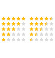 star rating five icon for review and rate 5 whole vector image