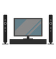television tv set monitor and acoustic system vector image vector image