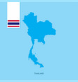 thailand country map with flag over blue vector image