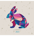 The 2023 new year card with Rabbit vector image vector image