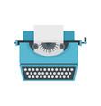 vintage typewriter icon flat style vector image