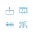 web outline icons set vector image vector image
