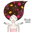 Young Woman With Flower On Head vector image vector image