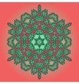 Mandala Oriental Floral Carpet Design vector image