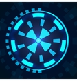 Sci fi futuristic user interface HUD vector image