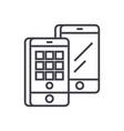 smartphones isometric line icon sign vector image