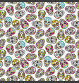 colorful mexican sugar skull seamless pattern vector image