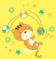 Cute little cat vector image