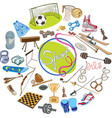 colorful drawing sports concept vector image