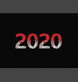2020 red bloody text vector image