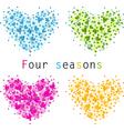 4 seasons vector image vector image