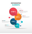 abstract circle business infographics elements vector image vector image