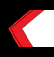 abstract red arrow overlap black white vector image