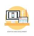 Adaptive web design vector image