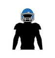 american footbal player silhouette image vector image vector image