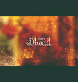 awesome diwali wallpaper background with paisley vector image