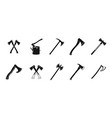 axe icon set simple style vector image vector image