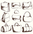 bags set hand drawing