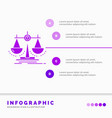 balance decision justice law scale infographics vector image