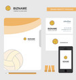 basketball business logo file cover visiting card vector image vector image