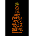 Beer Print for bar restaurant Calligraphy vector image vector image