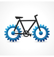 Bicycle with cog wheel vector image