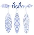 blue bohemian arrow amulet letters boho vector image vector image