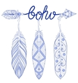 Blue Bohemian Arrow Amulet letters Boho with vector image vector image