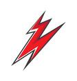 bolt icon design vector image vector image