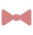 bow tie halftone icon vector image