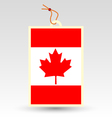 canadian made in tag vector image