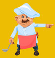 cartoon character a man in the form of a cook with vector image vector image