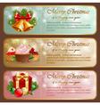 Christmas vintage horizontal banner vector image