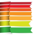 Colored ribbons for your design vector image vector image
