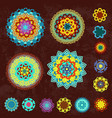 colorful collection of ethnic arabesques on vector image