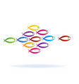 colorful school of fish icon vector image